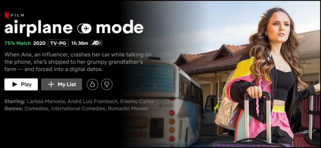 Modo avión original de Netflix