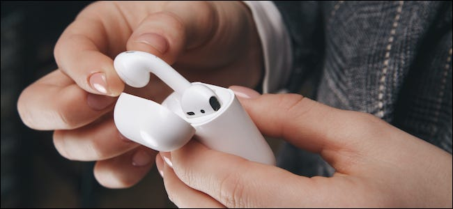 New iPhone learning how to use AirPods
