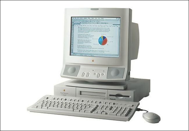 An Apple Power Macintosh 6100.