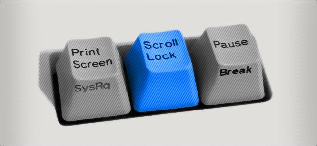The Scroll Lock key.