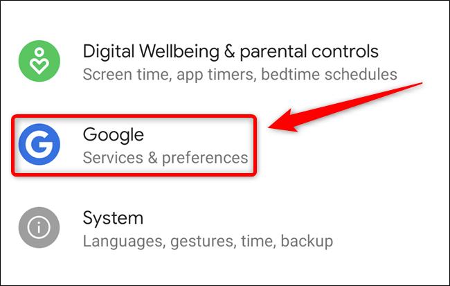 """Seleccione el botón """"Google"""""""