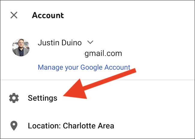 "Select the ""Settings"" option"