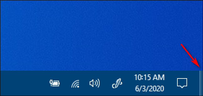 The Windows 10 Show Desktop Button