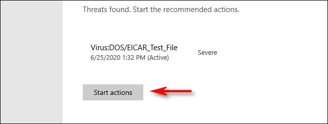 Threat Found in Microsoft Defender on Windows 10