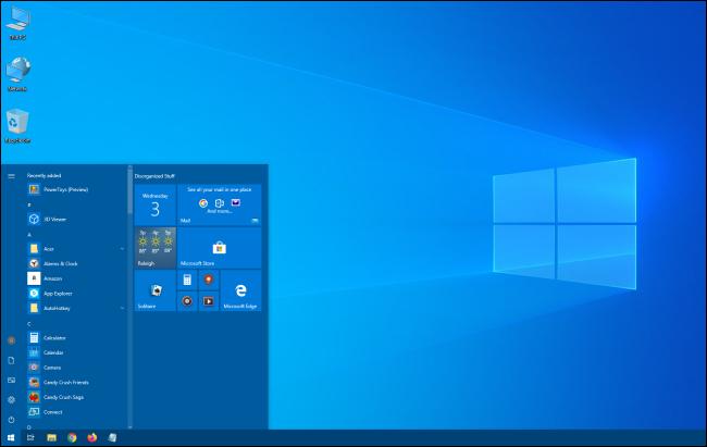 El menú Inicio de Windows 10