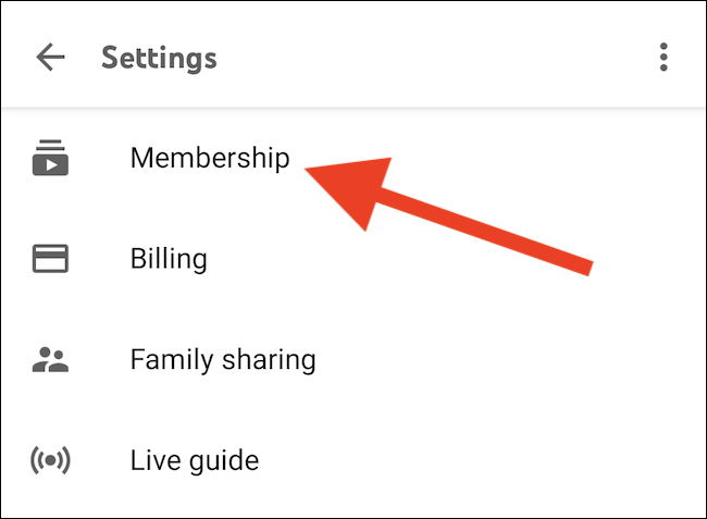"Tap the ""Membership"" button"