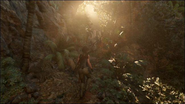 A Tomb Raider game running through Rosetta 2 on a Mac.