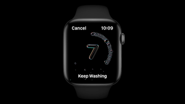 watchOS 7 hand washing dectection