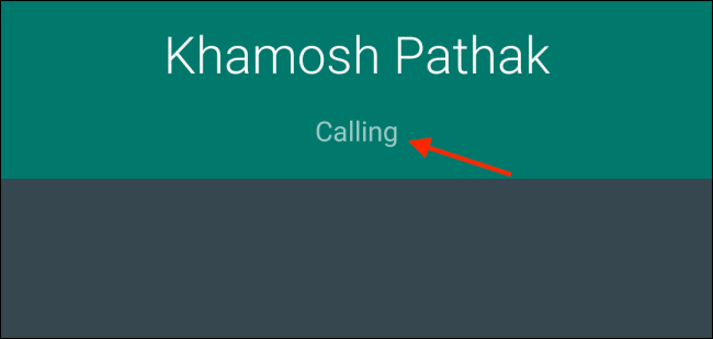 Calling contact on WhatsApp