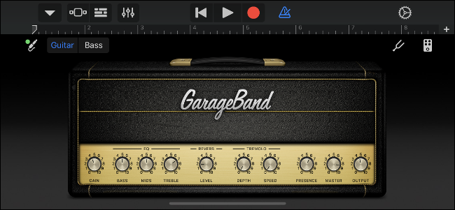 GarageBand Amplificador de guitarra virtual