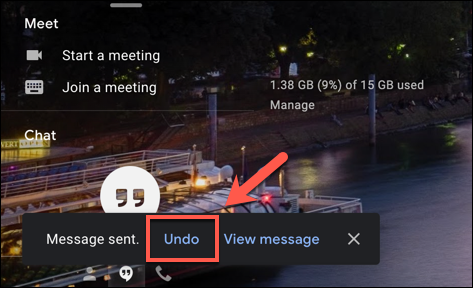 "Press ""Undo"" to recall a sent Gmail email in the bottom-left of the Gmail web window"