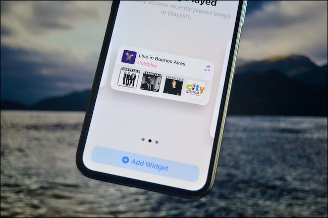 Selecting widget version in iOS 14