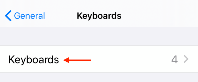 Touch Keyboard in the Keyboard section