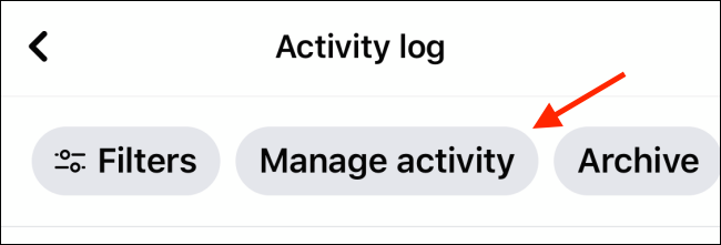 Tap Manage Activity