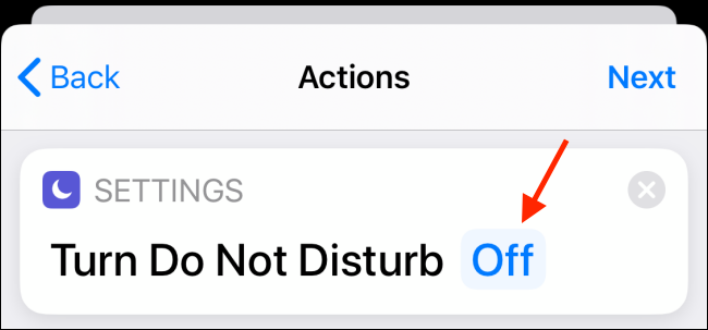 Tap on Off button next to Do Not Disturb