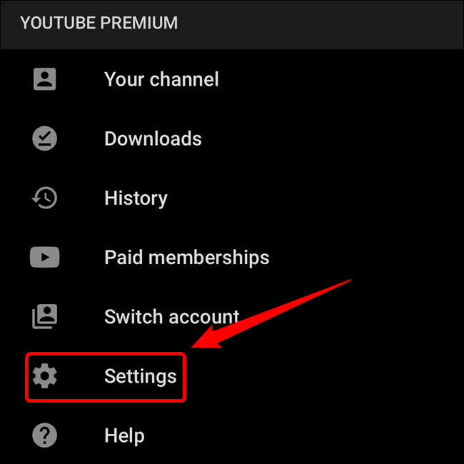 """Select the """"Settings"""" button"""