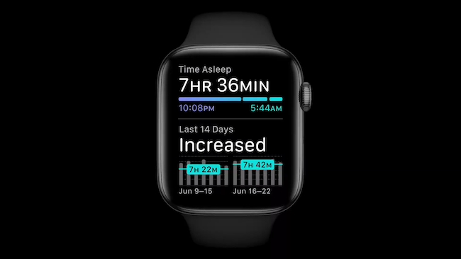 Sleep tracking in watchOS 7