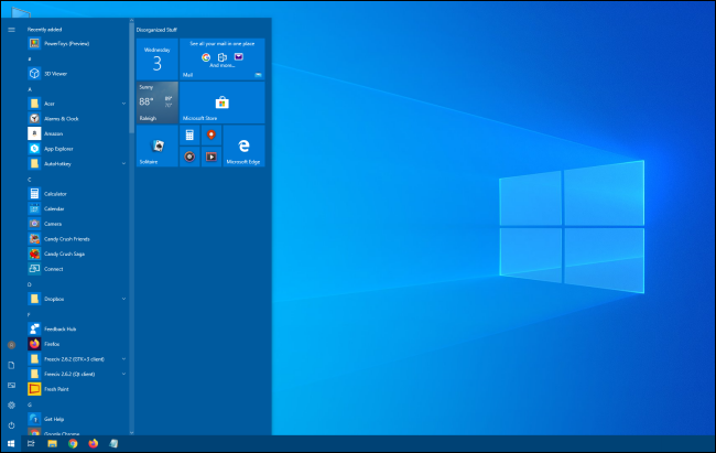 A taller Windows 10 Start menu