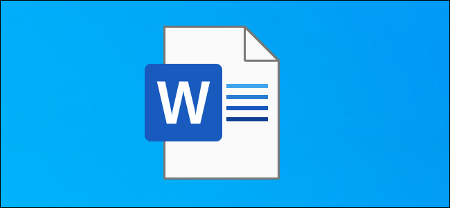 Un icono de documento de Word en un escritorio de Windows 10.