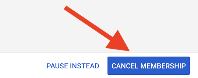 "YouTube TV will list what you will miss by canceling. Select the ""Cancel Membership"" button one last time to completely unsubscribe"
