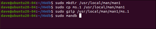 sudo mkdir /usr/local/man/man1 in a terminal window.