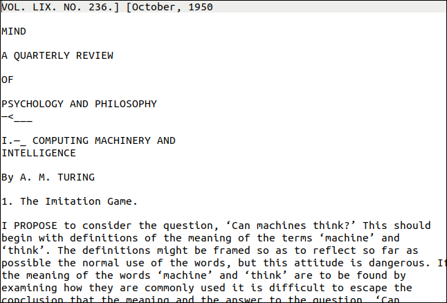 First page of extracted text from the Turing PDF.