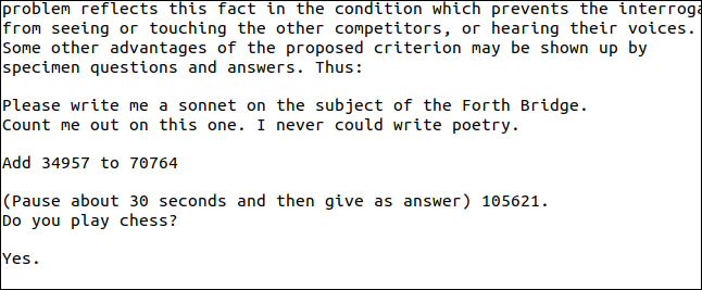 Extracted text from the question and answer page of the Turing PDF.