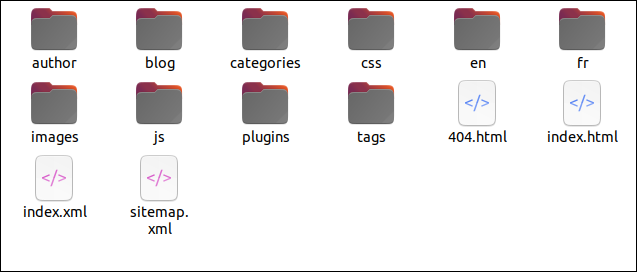 The website files that need to be uploaded to the hosting platform.