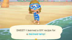 How to Get Mermaid DIY Recipes From Pascal in 'Animal Crossing: New Horizons'