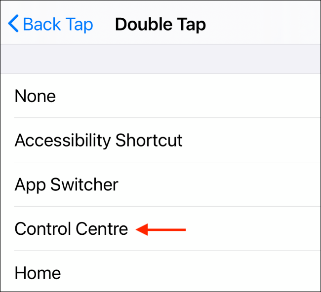Choose a Double Tap action