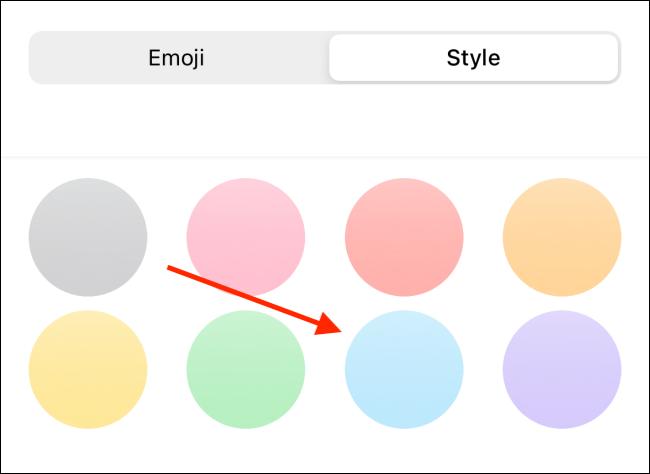 Choose background for Emoji