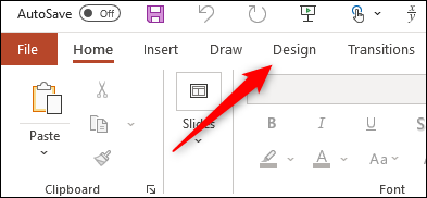 Design tab in PowerPoint