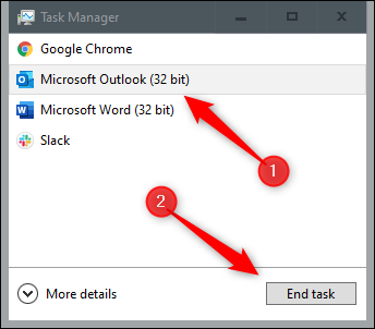 End task from task manager