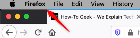 Firefox option in mac header