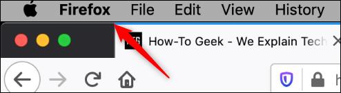 Firefox option in mac header