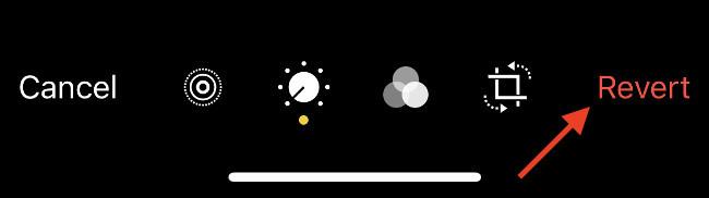 """Toque el botón """"Revertir"""" para descartar los cambios"""