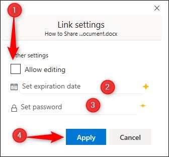 Link settings