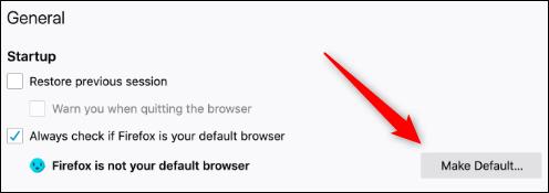 Make default button