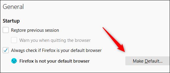 """Click """"Make Default."""""""