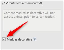Mark as descriptive box