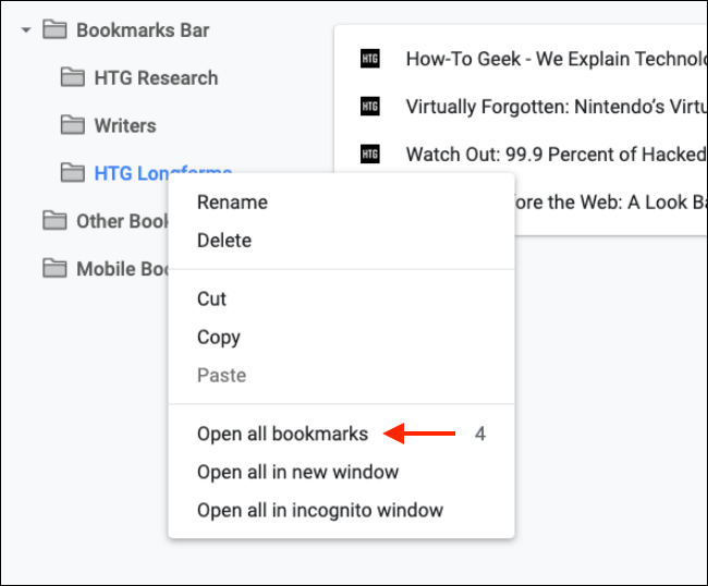 Open All Bookmarks from Folder