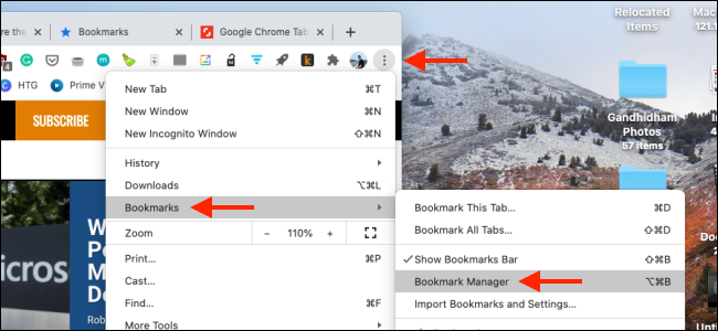 Open Bookmark Manager