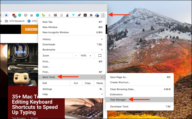 Open Task Manager in Chrome