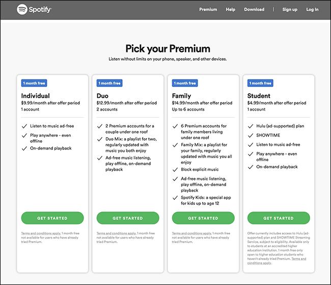 spotify options