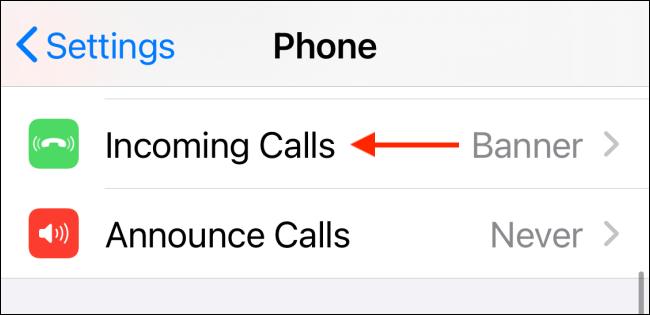 Seleccionar llamadas entrantes