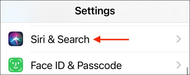Select Siri and Search