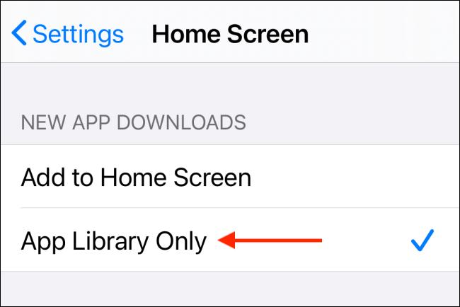 Toque Biblioteca de aplicaciones solamente