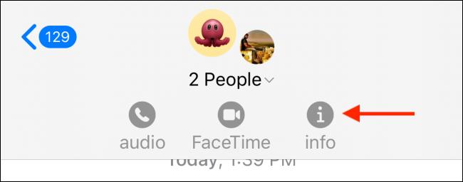 Tap Info Button