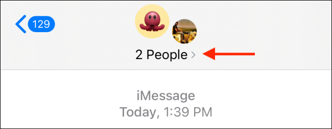 Tap People in Group Message