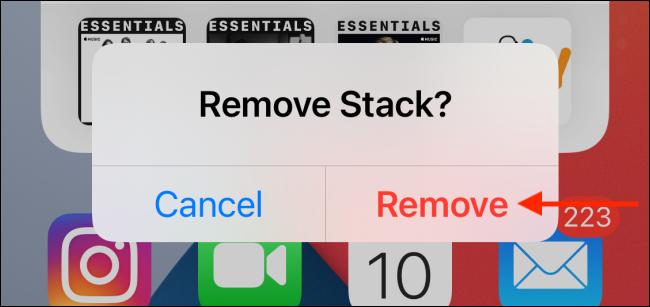 """Tap """"Remove."""""""
